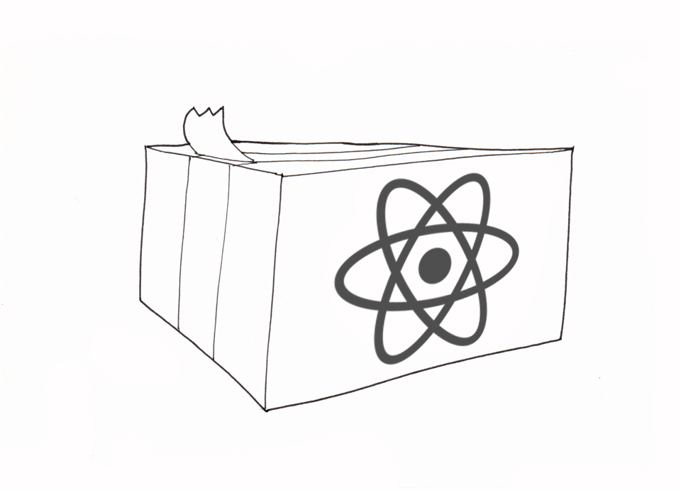 The React package is like a cardboard box containing all you need to create React apps.